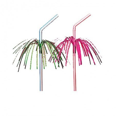Straws with Tinsel 100 pack