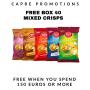 Free Box Crisps On All Orders  + 150€