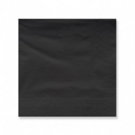 Serviettes Black 40x40 2 ply 100 pack