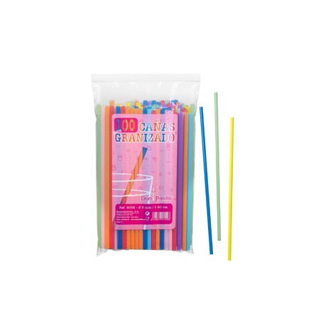 Smoothie Straws 6mm x 200mm 100 pack