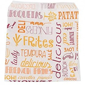 French Fries Bags 12x12 Greaseproof