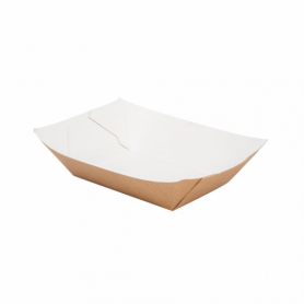 Brown Food Trays Large pack 200