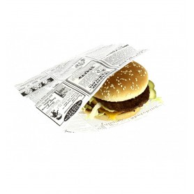 Burger / Chips Open Greaseproof Bags
